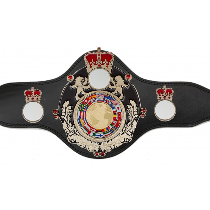 WORLD CHAMPIONSHIP BELT -PLTQUEEN/B/S/FLAGG